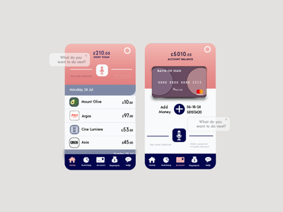 Mobile Banking App Daily UI