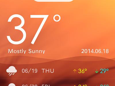 Weather weather ios7 iphone ui icon app