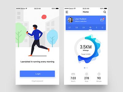 Running App running design ui ios office app 6 iphone