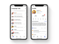 New UI design for HelloTalk