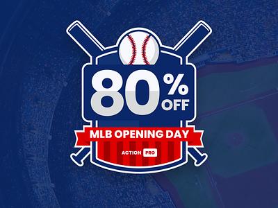 MLB Opening Day Promo sports betting baseball sports marketing branding design illustration graphic design