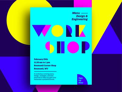 Social Media Graphic for Workshop workshop social media marketing social media graphic menu design typogaphy social media design vector typography flat design