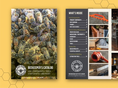 Beekeeping Catalog catalog design social media design branding catalog print design print graphicdesign design