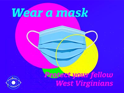 Wear a Mask covid19 mask logo icon social media design illustration vector graphicdesign design
