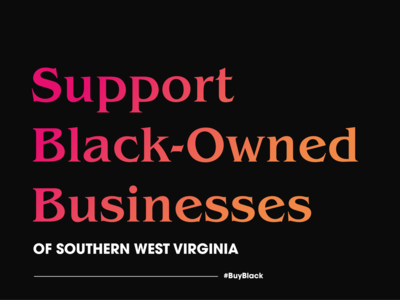 Black Owned Business of Southern WV social media design typography graphicdesign design