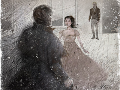 Wuthering heights digital photoshop emily bronte wuthering heights character illustration book illustration illustration art