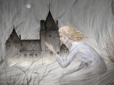 spirit in search illustrator girl book art photoshop tell a story fantasy character illustration book illustration illustration art