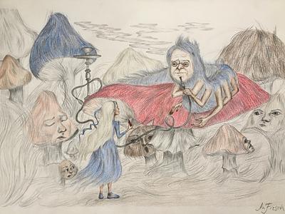 The secret life of Alice Liddell girl fantasy alice kid lit art book art tell a story character illustration book illustration illustrator illustration