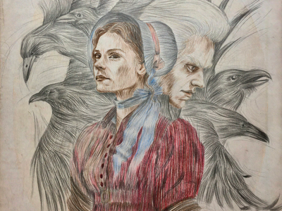 "Fanart ""Jonathan Strange & Mr Norrell"" book movie raven fantasy illustrator character illustration bookillustration art"