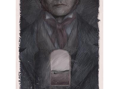 "Mr Rochester (""Jane Eyre"") gothic love digital art jane eyre book tell a story book illustration art"