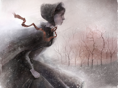 """""""Where are you?"""" Art for """"Jane Eyre"""" book jane eyre girl tell a story character illustration digital photoshop book illustration illustration art"""