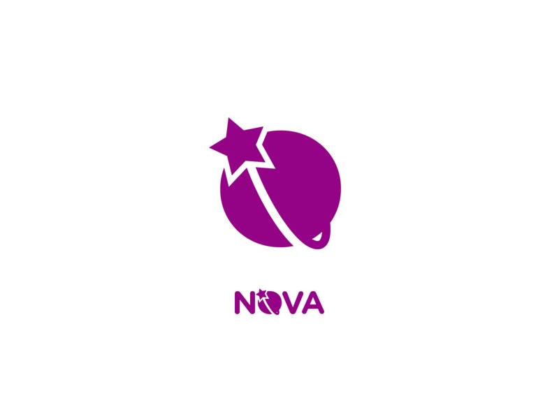 Nova wip space planet star logo branding supernova