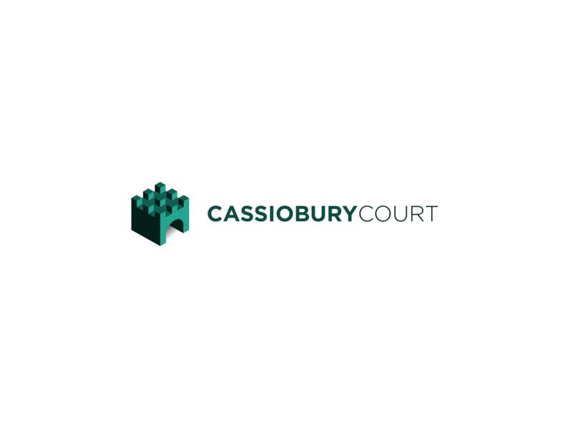 Cassiobury Court recovery rehab icon building castle logo branding