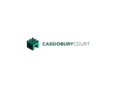 Cassiobury Court recovery rehab icon building castle logo branding