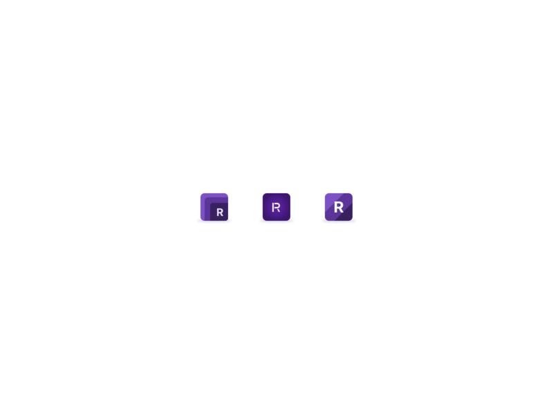R Icons inter custom lettering iconset branding concept brand identity figma brand design logo design logomark wip purple pieces parts layered single letter logo icons branding