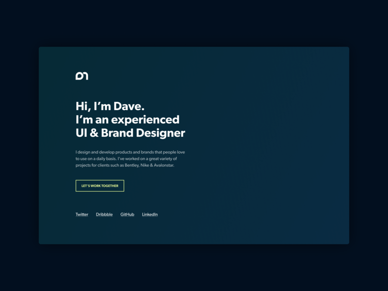 Simple About Page ui about me holding page landing page