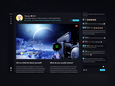 Profile Preview app chat streaming live profile preview wip altair