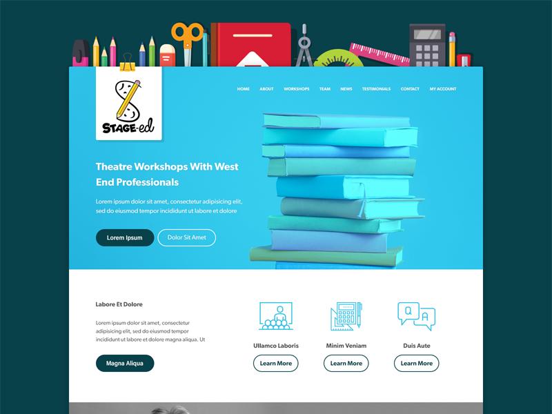 Stage-Ed illustration education header wip