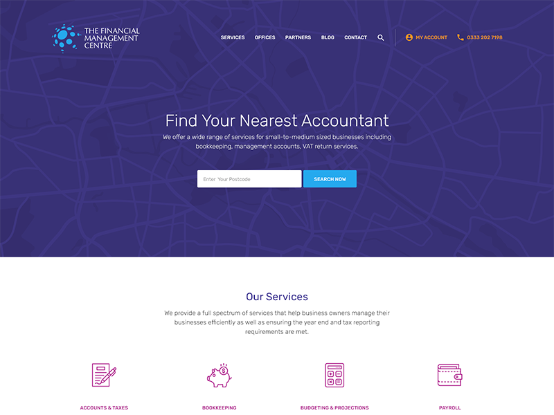 The Financial Management Centre icons services cta accountant header wip