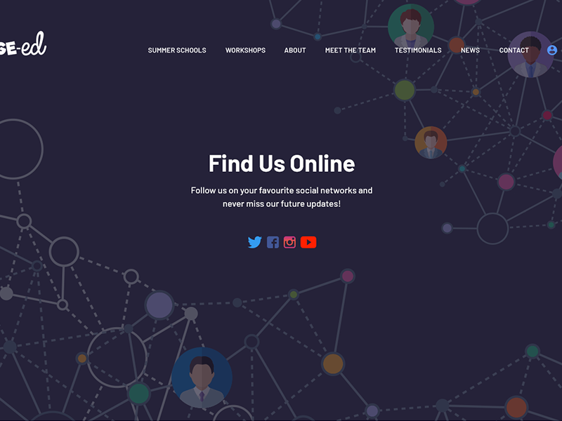 Social Hub illustration header banner hero