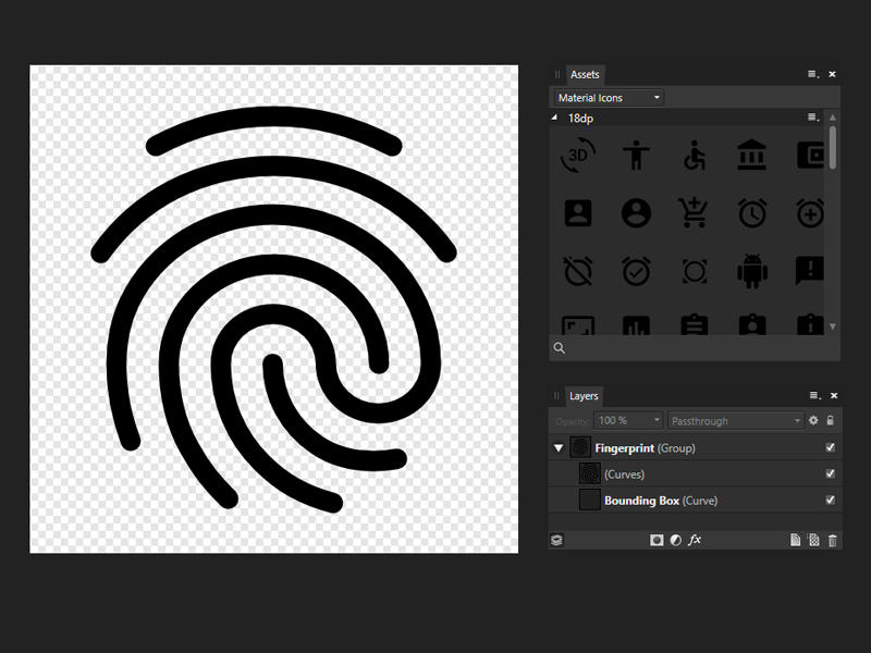 Affinity Designer Material Icons assets material icons affinity designer