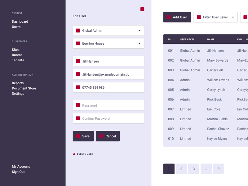 User Editing Wireframes figma wireframe system user