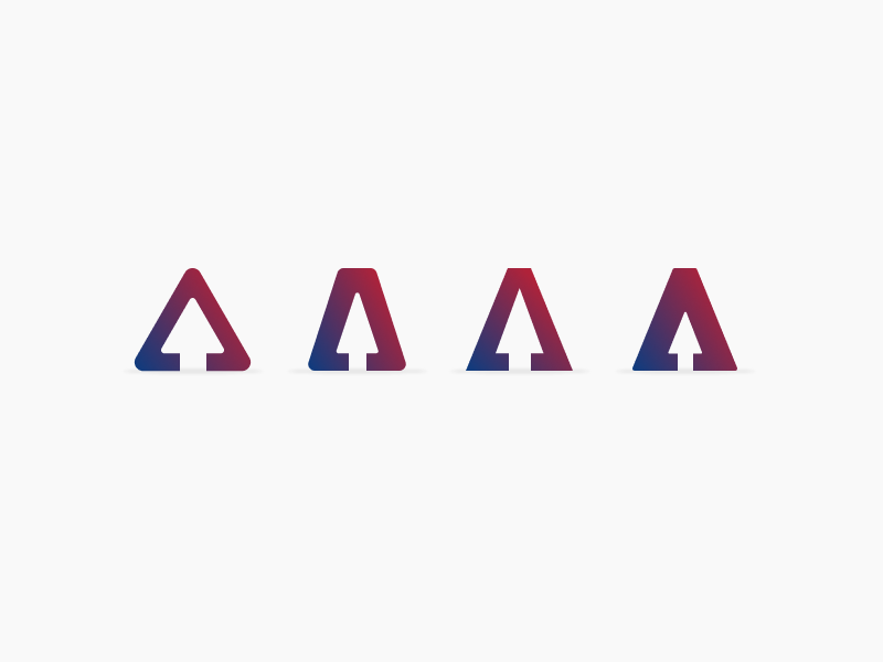 A Arrow branding icon logo arrow figma
