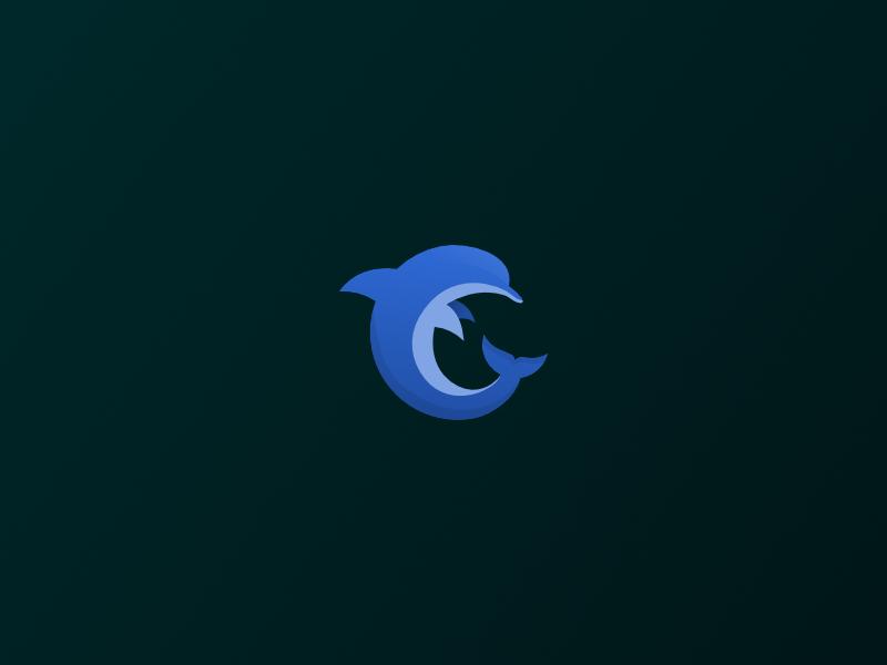 🐬 Solo Dolphin icon logo branding sketch dolphin