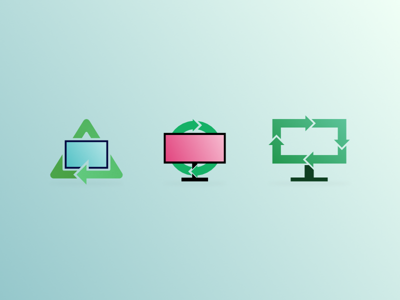 Computer Recycle Icons recycle computer icon branding