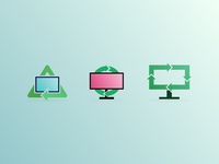 Computer Recycle Icons