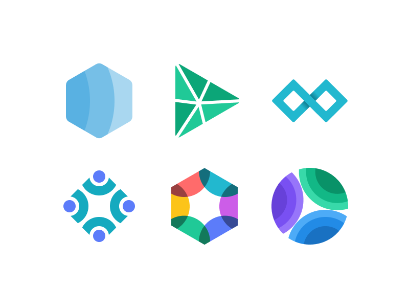 Connected Shapes collaboration logo connected shapes branding figma