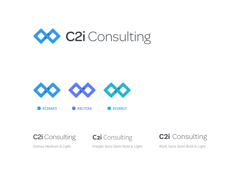 C2i Consulting figma link collaboration teamwork logo icons marks branding