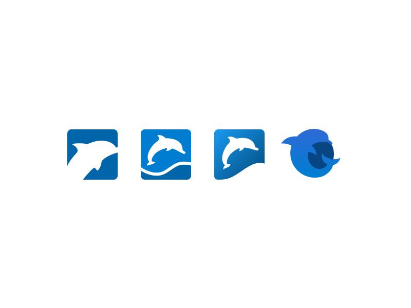Digital Dolphin Sketches figma icon branding sketch illustration logo dolphin