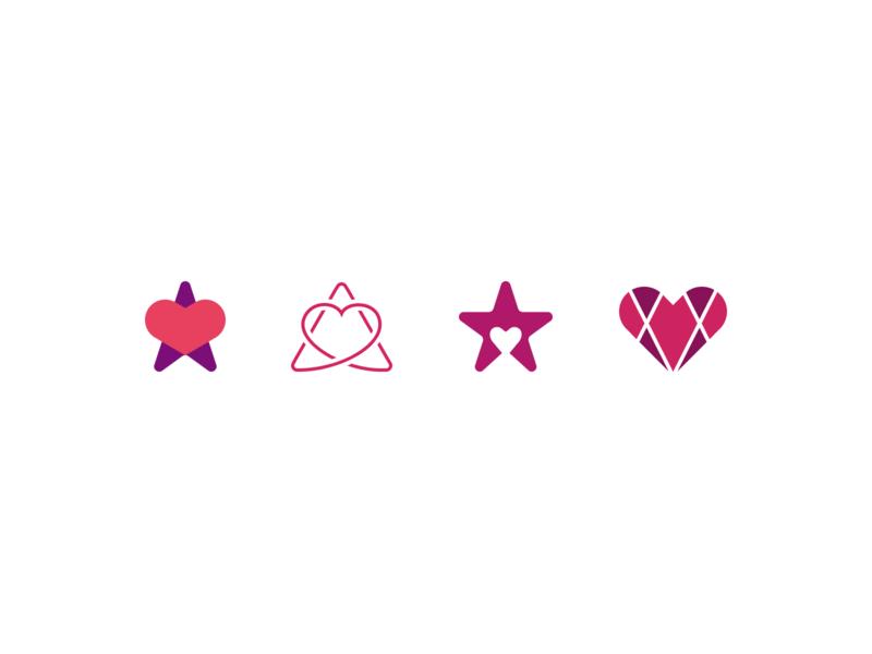 Digital Hospice Sketches star heart wip illustration figma mark icon logo