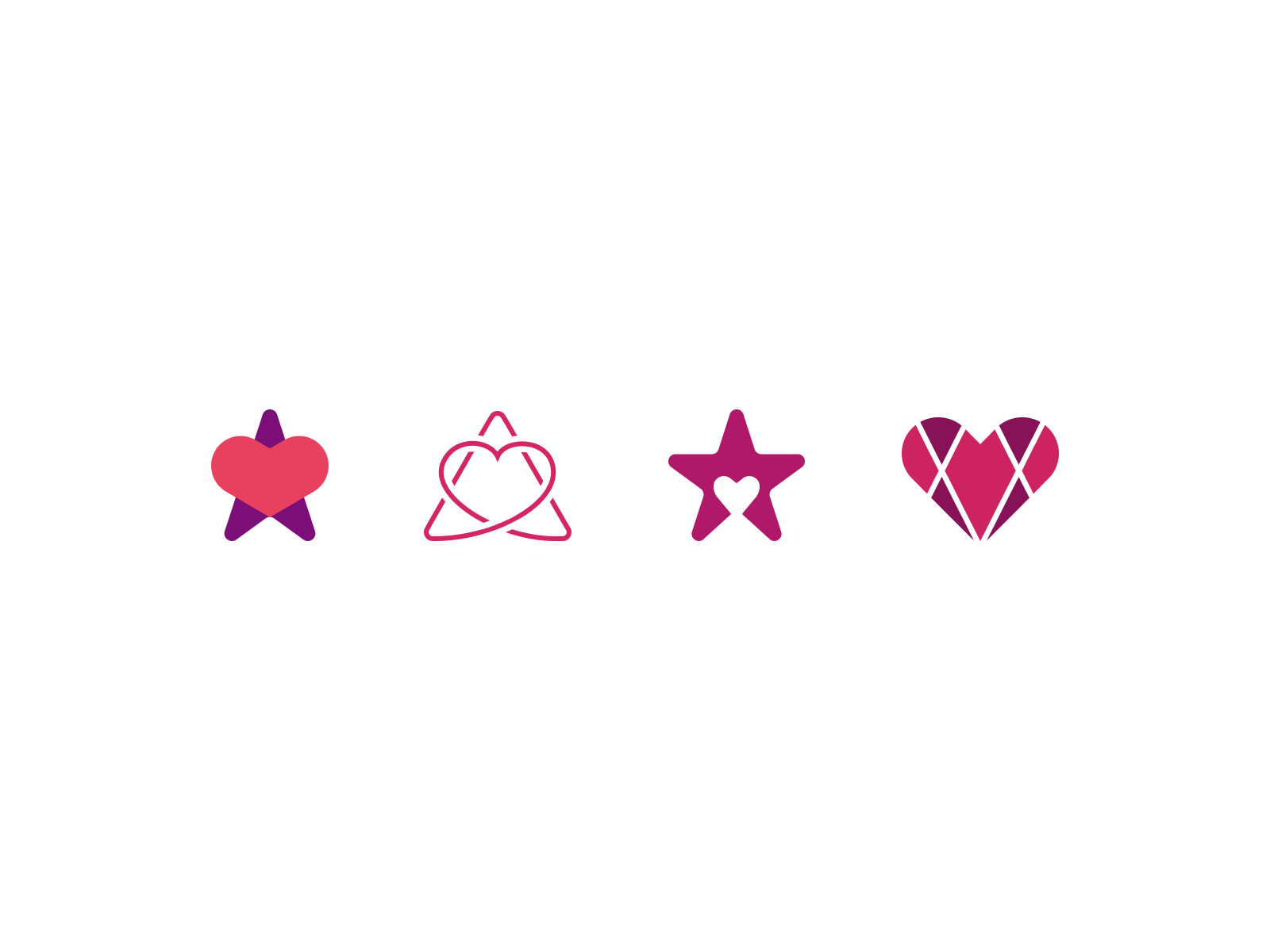 Digital Hospice Sketches star heart wip illustration figma mark icon logo