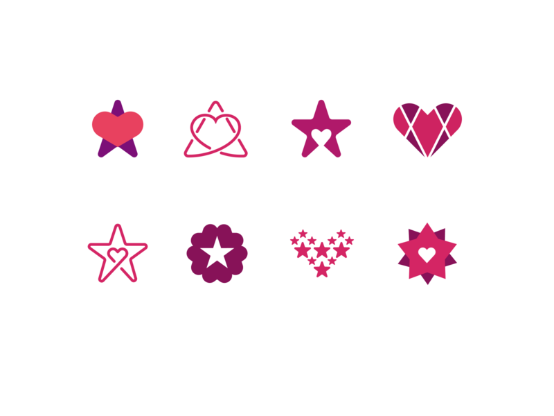 More ⭐️& ❤️Sketches branding identity hospice illustration figma heart star icon logo