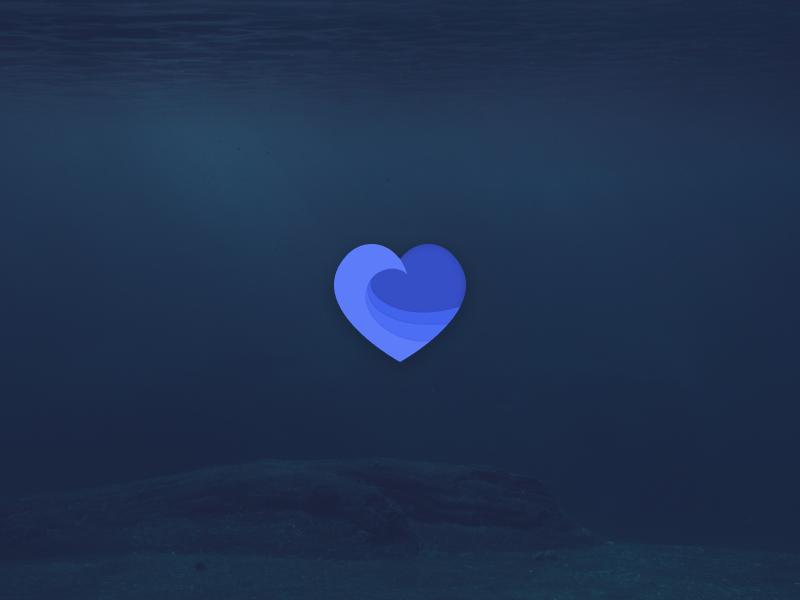🌊❤️ Branding wellness recovery figma branding logo heart wave ocean