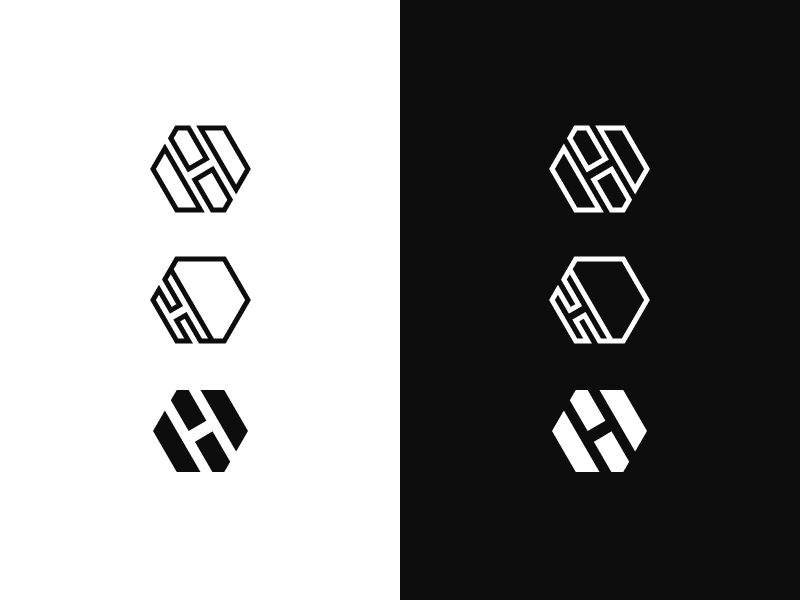 H Icon Branding hexagon exploration wip figma icon logomark branding