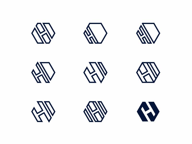 Hexagons & H's figma identity hexagon wip icon logo branding