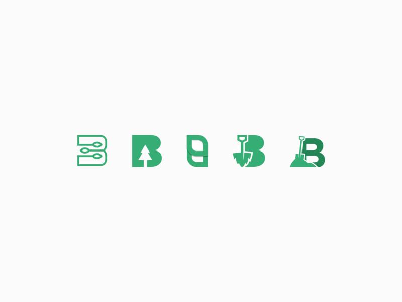 B Logomark figma vector gardening landscaping logomark logo branding