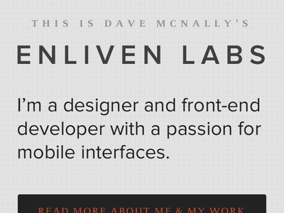 Nav Scaled navigation icons logo retina javascript texture mobile