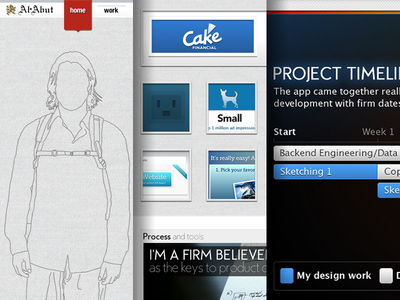 Archiving my old portfolio site website personal ui ux web webdesign web design design fireworks png portfolio