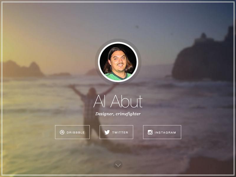 alabut.com v3 (intro) portfolio website personal ui ux web webdesign web design design fireworks png flat