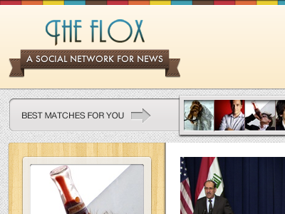 Flox - Profile Page ui web news newsreader socialnetwork social network profile fireworks