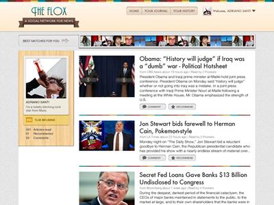 Flox - Profile Page 2 ui web news newsreader socialnetwork profile social network fireworks