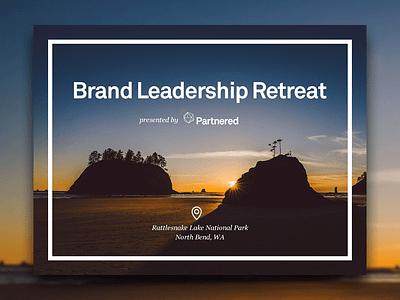 Partnered executive retreat minimal clean sketch walkthrough glossy enterprise ycombinator startups startup b2b web page web landing marketing