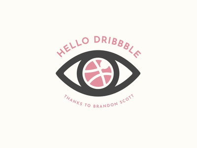 Hello Dribbble Minimalist Logo Design