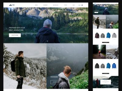 Hiking E-Commerce Site patagonia outdoorsy hiking ecommerce figma