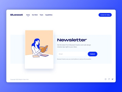 Newsletter Signup newsletter design marketing designer visualdesigner marketingdesigner newsletter email marketing saas