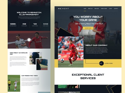 Soccer Website UI ui advertising tech ecommerce branding saas adtech figma design